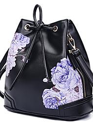 Women Shoulder Bag PU All Seasons Casual Baguette Zipper Black White