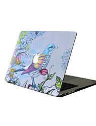 For New MacBook Pro 13 15 Air 11 13 Pro Retina 13 15 Macbook 12 Case Cover PVC Material Oil Painting Bird Flowers MacBook Case