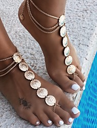 cheap -Flower Barefoot Sandals - Women's Gold / Silver Vintage Anklet For Daily / Casual / Sports