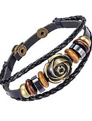 billige -Herre Læder Armbånd Smykker Natur Mode Læder Legering Smykker Til Speciel Lejlighed Sport