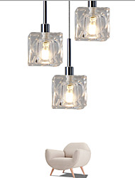 cheap -UMEI™ 3-Light Pendant Light Ambient Light - Crystal, LED, Designers, 110-120V / 220-240V, Warm White / White, Bulb Included / 5-10㎡