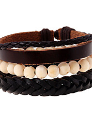 cheap -Men's Women's Leather Bracelet Fashion Leather Geometric Jewelry Wedding Party Sports Costume Jewelry Rainbow