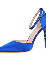 abordables -Femme Chaussures Lycra Printemps Eté Escarpin Basique Confort Chaussures à Talons Talon Aiguille Bout fermé Bout pointu pour Bureau et