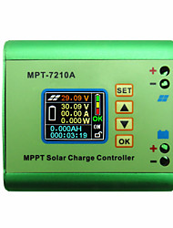LCD MPPT 10A Solar Regulator Charge Controller for 24V 36V 48V 60V 72V Battery DC12-60V Max 600W Solar Panel DC-DC Step-Up Power