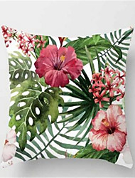1Pcs Fashion Tropical Plant Sofa Cushion Peach Skin Pillow Cover
