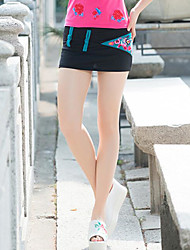 Women's Holiday Mini Skirts A Line Solid Print Summer