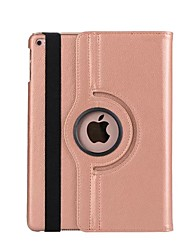 cheap -For Case Cover with Stand Auto Sleep / Wake 360° Rotation Full Body Case Solid Color Hard PU Leather for Apple iPad (2017)