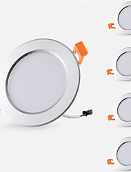 cheap -5pcs 5W 500lm 10 LEDs Easy Install Recessed Decorative LED Downlights Warm White Cold White AC 85-265V