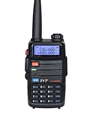 Microfone impermeável digital walkie talkie de banda dupla tht uv8r 256ch rádio bidirecional