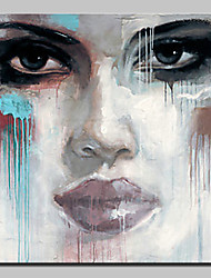 cheap -Hand Painted Abstract Face Oil Painting On Canvas Modern Wall Art Picture For Home Decoration Ready To Hang