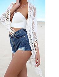 Women's Beach Sexy Summer T-shirt,Solid V Neck Long Sleeve Cotton Thin