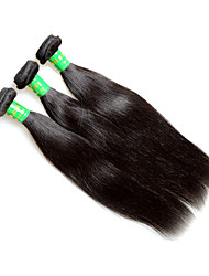 cheap -raw 8a indian straight virgin remy human hair extensions weaves 3bundles 300g lot natural black color silk soft texture good quality