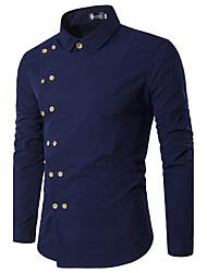Herren Solide Luxus Spezial Design Einfach Street Schick Punk & Gothic Party Verabredung Lässig/Alltäglich Arbeit Hemd,HemdkragenFrühling