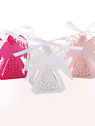 abordables -50 pcs belle ange laser cut candy box bébé douche partie décoration