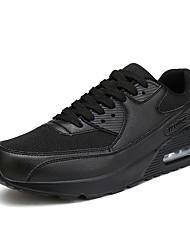 Men's Sneakers Comfort PU Spring Fall Athletic Outdoor Comfort Low Heel White Black Ruby Green 1in-1 3/4in