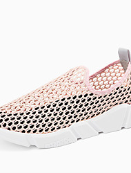 Women's Athletic Shoes Comfort Hole Shoes Tulle Summer Athletic Casual Office & Career Walking Comfort Hole Shoes PlatformBlack Gray