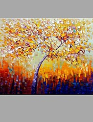 cheap -Hand-Painted Knife Tree Scenery Oil Painting Wall Art With Stretcher Frame Ready To Hang