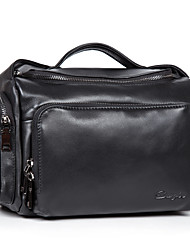 cheap -Men's Bags Cowhide Shoulder Bag Smooth for Business Casual Formal Office & Career Work Date School All Seasons Black