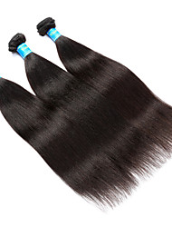 cheap -Indian Yaki Human Hair Weaves 3 Pieces 0.3