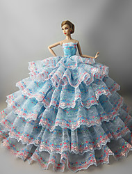 cheap -Party/Evening Dresses For Barbie Doll La Reine Margot Dress For Girl's Doll Toy