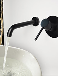 Vintage Wall Mounted with  Ceramic Valve Two Holes for  Oil-rubbed Bronze  Bathroom Sink Faucet