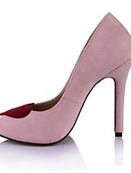 cheap -Women's Shoes Velvet Summer Club Shoes Heels Peep Toe for Office & Career Dress Pink