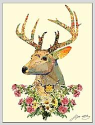 Peint à la main Animal Un Panneau Toile Peinture à l'huile Hang-peint For Décoration d'intérieur