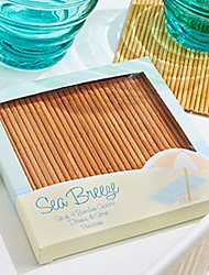 cheap -Beach Party Bamboo Coasters (4pcs/box) 10*10*1cm/box Beter Gifts® Life Style
