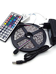 Led Strip Lights Kit 5050 5M 300leds RGB 60leds/m with 44key Ir Controller and 3A Power Supply  (EU/AU/UK/US Plug)
