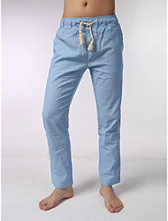 Men's Mid Rise Micro-elastic Sweatpants Pants,Simple Relaxed Solid