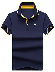 cheap -Men's Cotton Polo Classic / Stylish / Print Shirt Collar