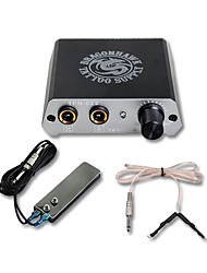 cheap -Professinal Mini Tattoo Power With Foot Pedal Clip Cord Supplies For Tattoo Studio