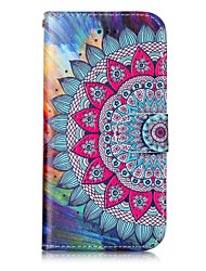 cheap -For iPhone X iPhone 8 Case Cover Card Holder Wallet with Stand Flip Embossed Pattern Magnetic Full Body Case Mandala Hard PU Leather for