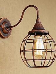 Arte de hierro retro moho estudio de color lliving habitación mesita de noche lámpara de pared americana