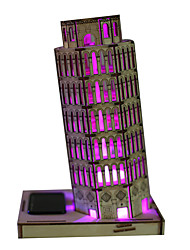 Solar Powered Toys 3D Puzzles Toys Tower Famous buildings Solar-Powered DIY Children's Kids Pieces
