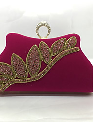 Women's Bags Metal Evening Bag with for Blue Black Red Fuchsia