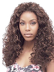 High Quality  Synthetic Peruvian  Hair  Wig Kinky Curly Lace Front Wig   For  Black Women