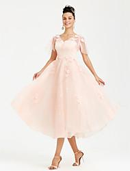 levne -Princess Do V K lýtkům Krajka Tyl Formální večer Šaty s Květina(y) Perličky podle TS Couture®