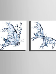 cheap -E-HOME Stretched Canvas Art Water Ripples The Butterfly  Decoration Painting One Pcs