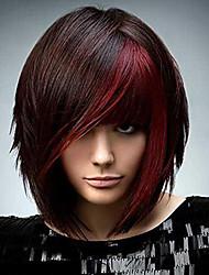 economico -Donna Parrucche sintetiche Pantaloncini Riccio Nero - rosso Parrucca riccia stile afro Parrucca naturale Parrucca per travestimenti