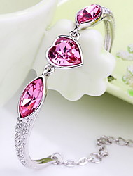 Women's Chain Bracelet Jewelry Natural Fashion Vintage Handmade Crystal Alloy Heart Irregular Jewelry ForWedding Party Anniversary