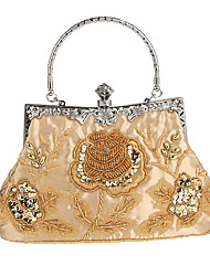 cheap -Women's Bags Polyester Evening Bag Imitation Pearl / Crystal / Rhinestone / Flower Solid Colored Deep Blue / Wine / Amethyst