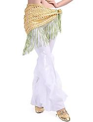 cheap -Belly Dance Hip Scarves Women's Performance Linen Tassel(s) 1 Piece Hip Scarf