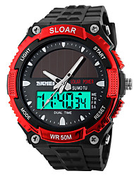 SKMEI® 1049  Men's Woman Solar ElectronicWatches Outdoor Sports Waterproof Sports Electronic Watches 50 Meters Waterproof