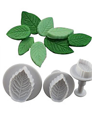 3Piece/Set Cake Mold Ice For Chocolate For Cookie Plastics Creative Kitchen Gadget
