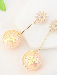 Drop Earrings Women's Girls' Euramerican Personalized Friendship Acrylic Boll Flower Movie Jewelry Party Daily Casual