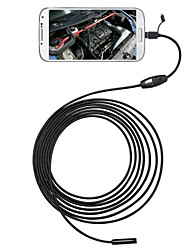 3 en 1 6 leds 5.5mm 2m endoscope endoscope otg micro usb caméra d'inspection ip66