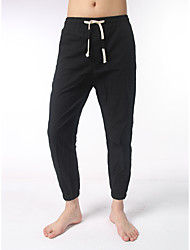 Men's Mid Rise strenchy Active Chinos Sweatpants Pants,Simple Active Loose Solid