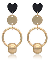 cheap -Women's Drop Earrings Personalized Unique Design Statement Jewelry Euramerican Fashion Agate Gold Plated Iron Geometric Jewelry Gold