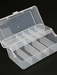 cheap -20cm*10cm*6.5cm 2 Trays 10 Compartments Fish Tackle Box Plastic Fishing Lure Storage Box Fishing Accessories